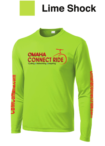 Shock Lime Green long sleeve dryT | Omaha Connect Ride cycling event