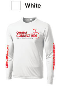 White technical DRY T | Omaha Connect Ride Cycling Events